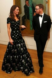 dress,gown,prom dress,floral dress,maxi dress,kate middleton,celebrity
