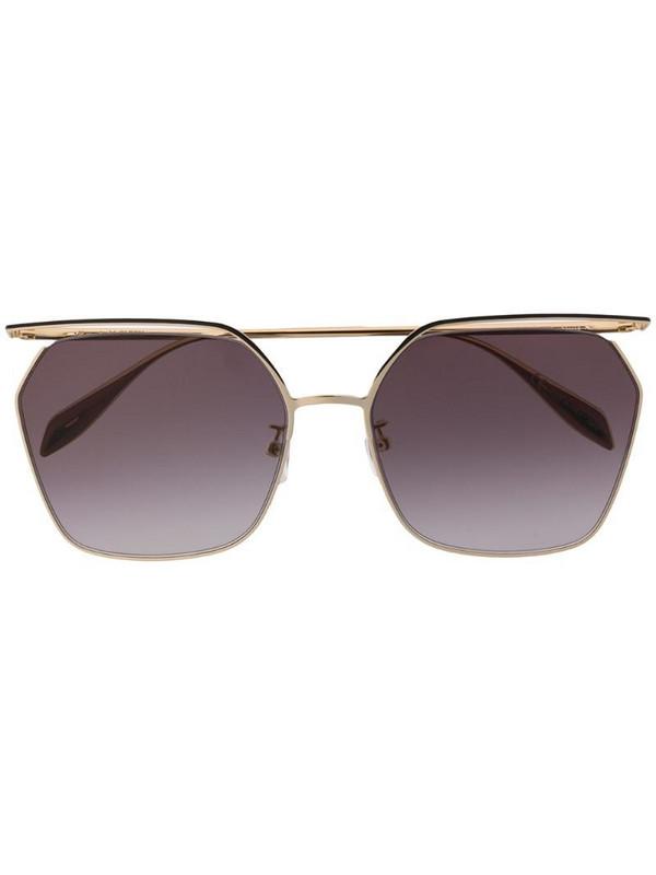 Alexander McQueen Eyewear hexagonal sunglasses in gold