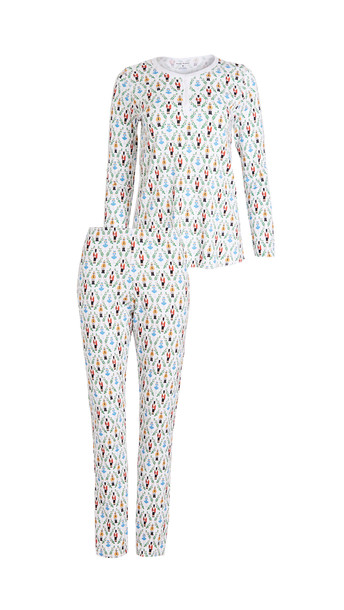 Roller Rabbit Sugar Plum Party Pajama Set in white