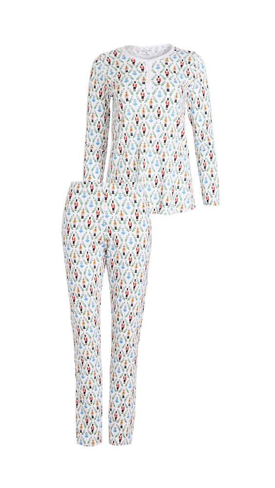 Roller Rabbit Sugar Plum Party Pajama Set in white