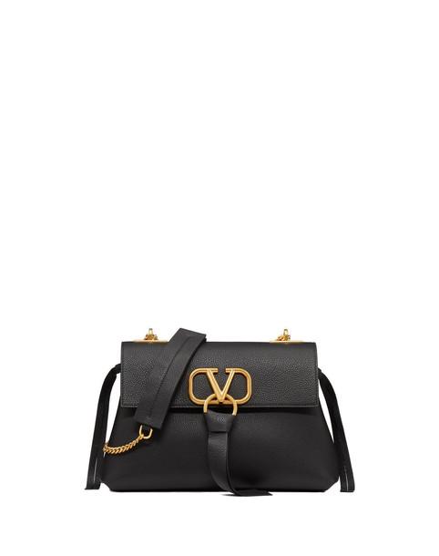 Valentino Shoulder Bag Whit Central Logo in black