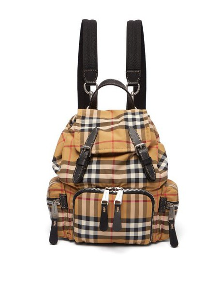 Burberry - Vintage Check Mini Canvas Backpack - Womens - Brown Multi