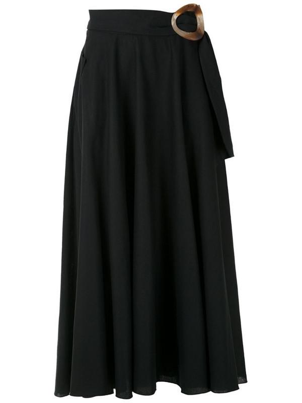 Isolda Guava linen skirt in black