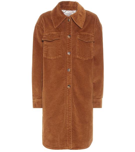 Baum und Pferdgarten Bronwyn corduroy shirt dress in brown