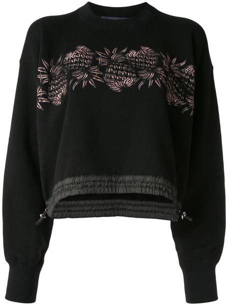 Sacai pineapple-print sweatshirt in black