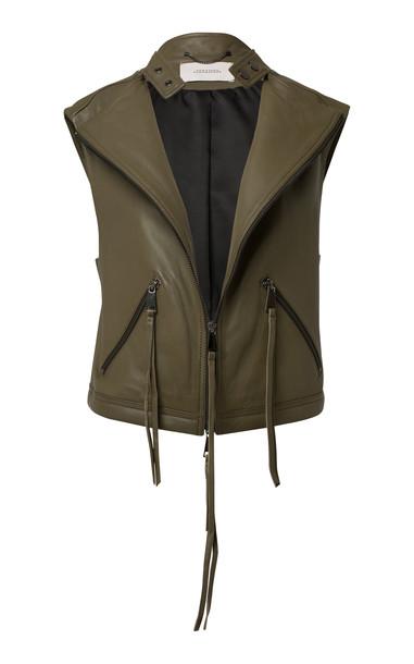 Dorothee Schumacher Cool Edge Vest Size: 0 in green