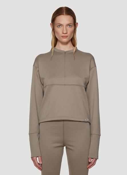 artica-arbox Half-Zip Long Sleeve Top in Grey size M