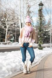 a lonestar state of southern,blogger,sweater,shoes,hat,scarf,jeans,duck boots,winter outfits,beanie