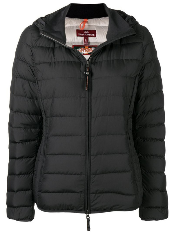 Parajumpers hooded puffer jacket in black