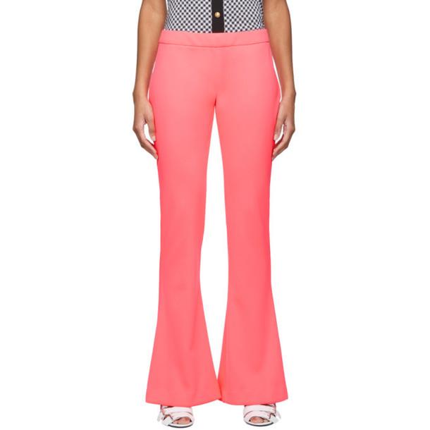 Balmain Pink Bootcut Trousers in rose