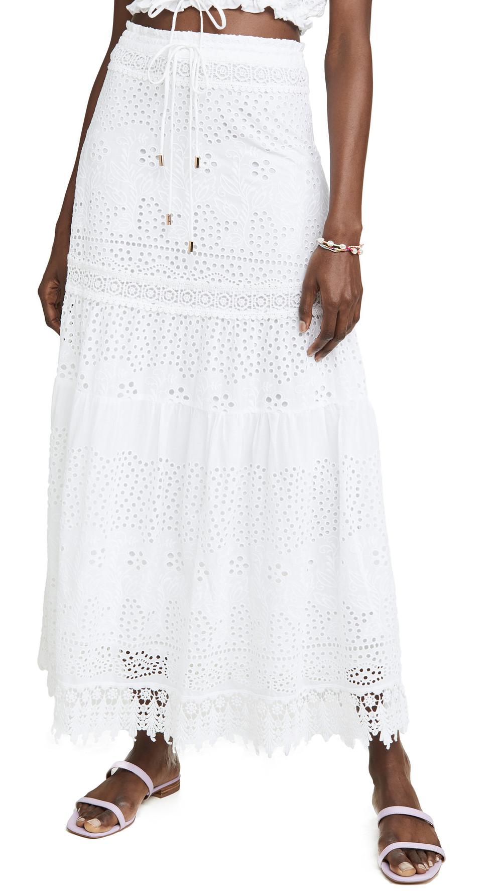 Melissa Odabash Alessia Skirt in white