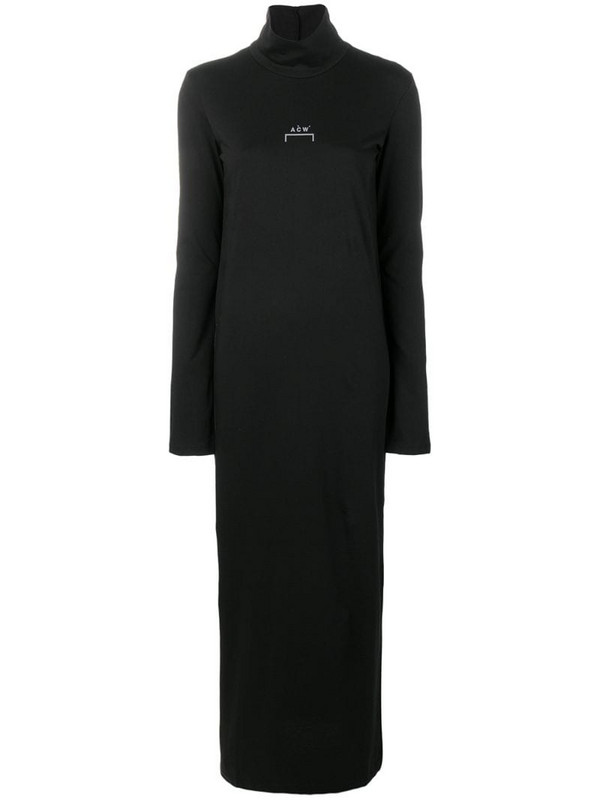 A-COLD-WALL* logo printed long dress in black
