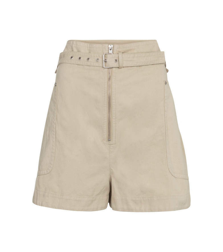 Isabel Marant, Étoile Parana cotton and linen Bermuda shorts in beige