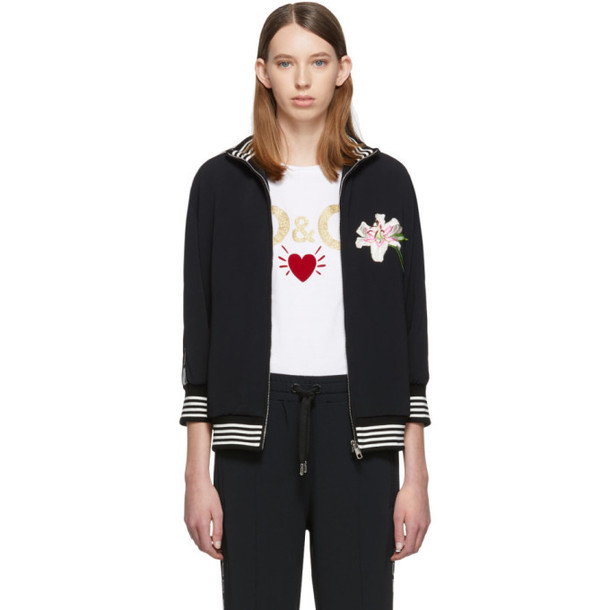 Dolce and Gabbana Dolce & Gabbana Black Lilium Sweater