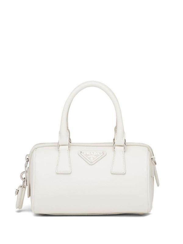Prada Saffiano leather tote bag in white
