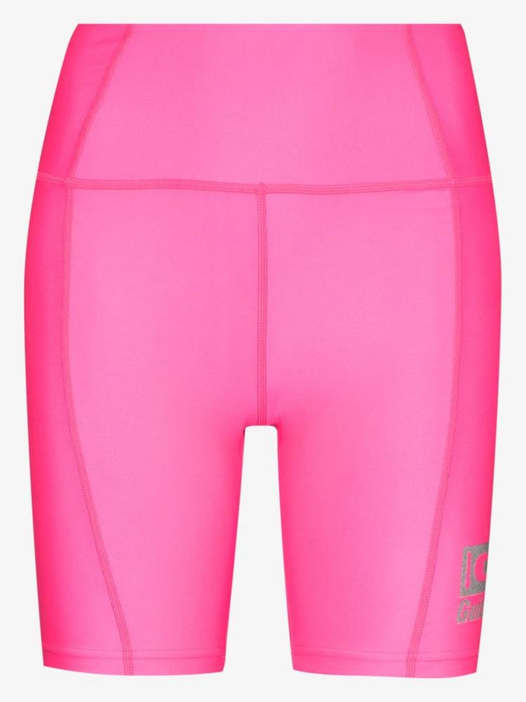 Danielle Guizio logo print cycling shorts in pink