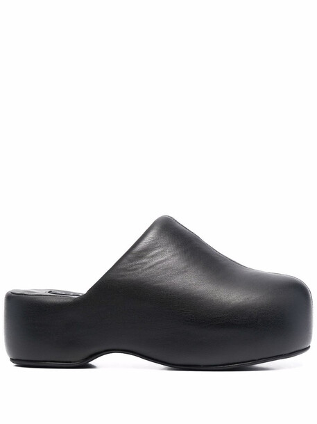 Simon Miller Bubble vegan-leather slide clogs - Black