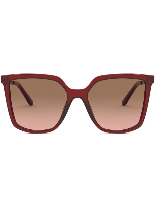 Tory Burch square-frame sunglasses in red