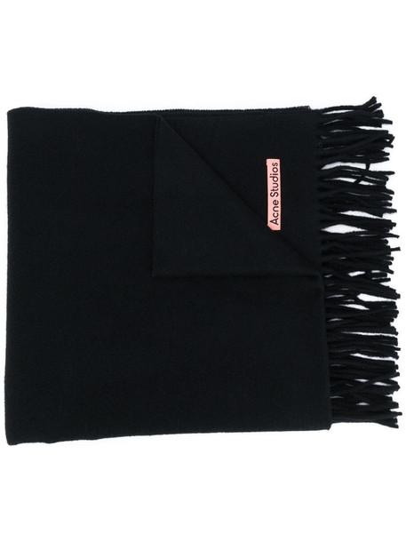 Acne Studios Canada New fringed scarf in black