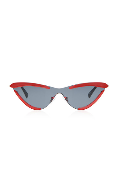 Adam Selman X Le Specs The Scandal Cat-Eye Sunglasses in red