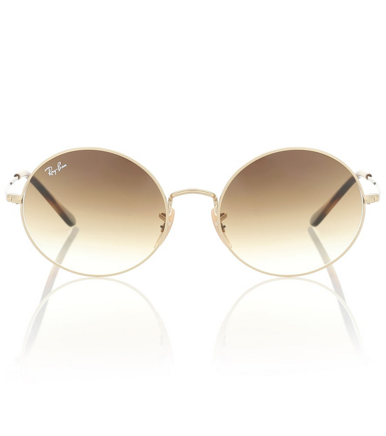 Ray-Ban RB1970 Oval sunglasses in gold