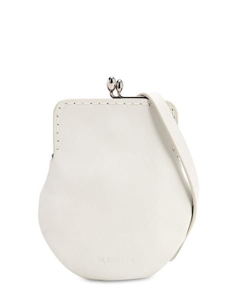 JIL SANDER Goji Frame Coin Case Bag in white