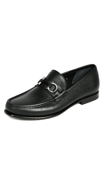 Salvatore Ferragamo Crown Bit Loafers in black
