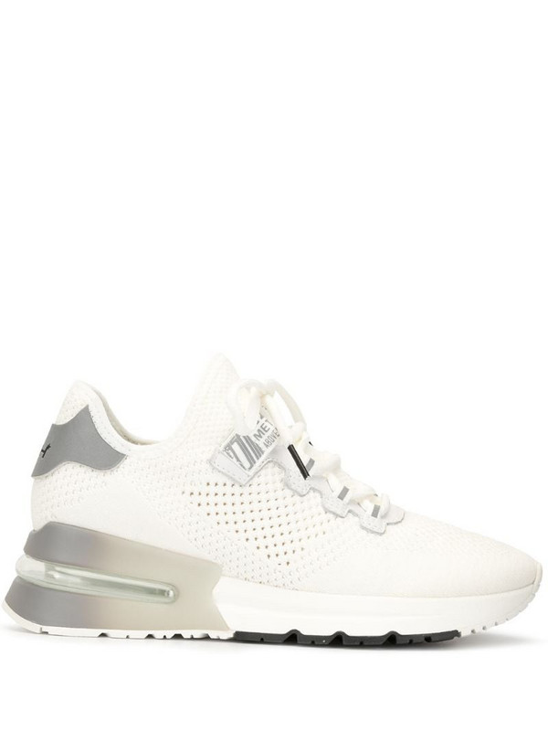 Ash open knit platform sole trainers in white