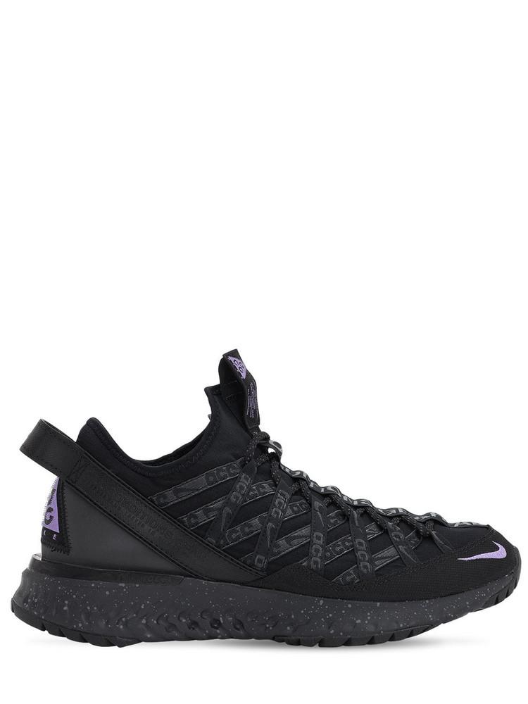 NIKE ACG Acg React Terra Gobe Sneakers in black / purple
