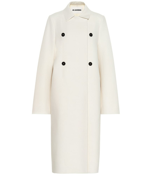 Jil Sander Wool-blend coat in white