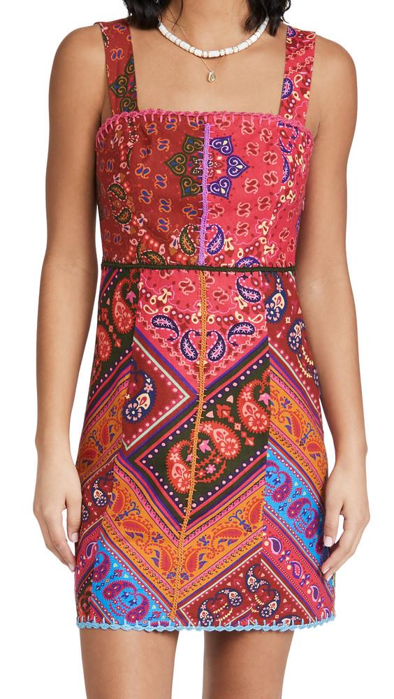 FARM Rio Colorful Bandana Mini Dress in multi