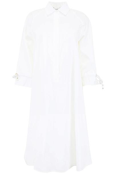 Max Mara Cotton Shirt Dress in bianco