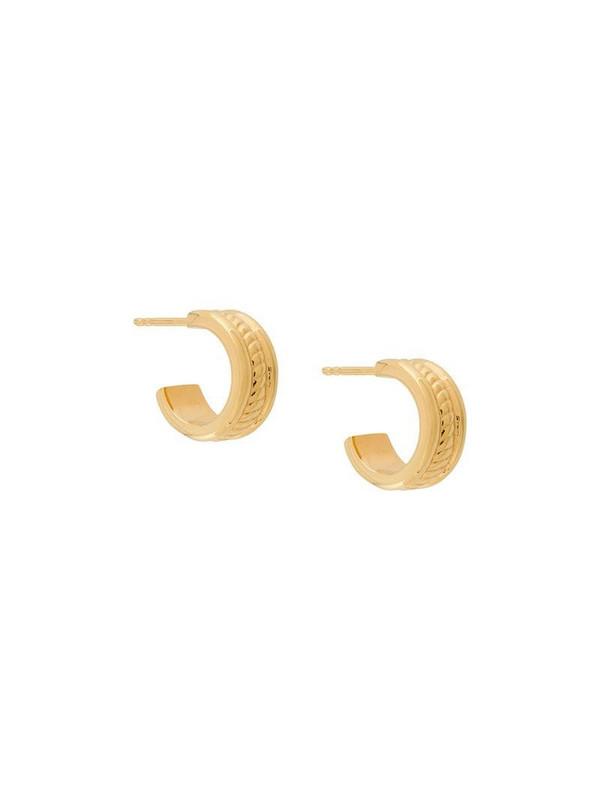 Northskull rope hoop earrings in gold