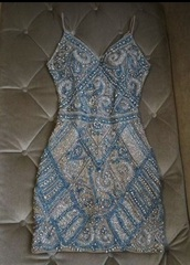 dress,white dress,black dress,pearl,embroidered,embellished,gems,short dress,tight