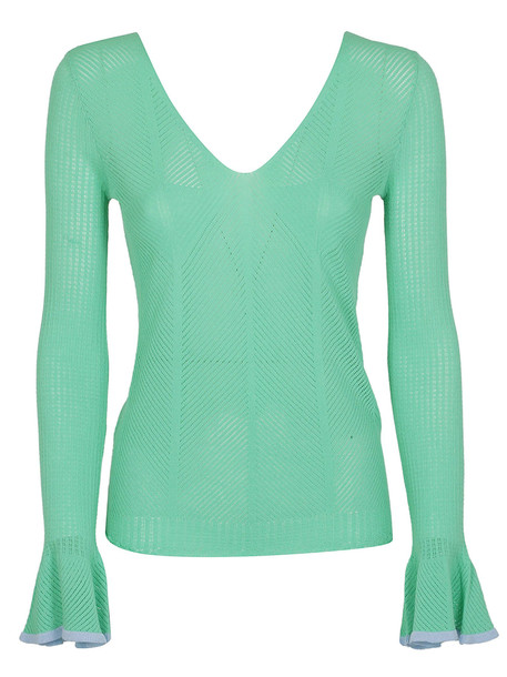 See by Chloé See By Chloé Flared Cuffs Sweater in green