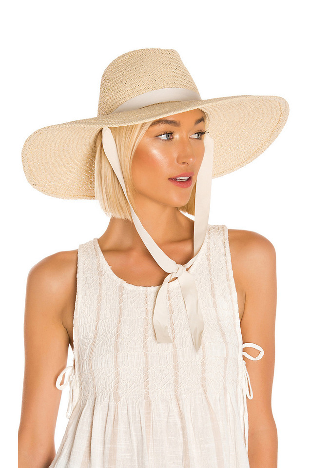 Hat Attack Jules Chinstrap Sunhat in beige