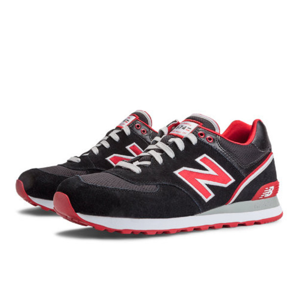 New Balance Stadium Jacket 574 Men's 574 Shoes - Black, Red, White (ML574SJK)