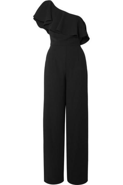 Paul & Joe - Dynastie Ruffled One-shoulder Crepe Jumpsuit - Black
