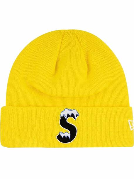 Supreme New Era beanie hat - Yellow
