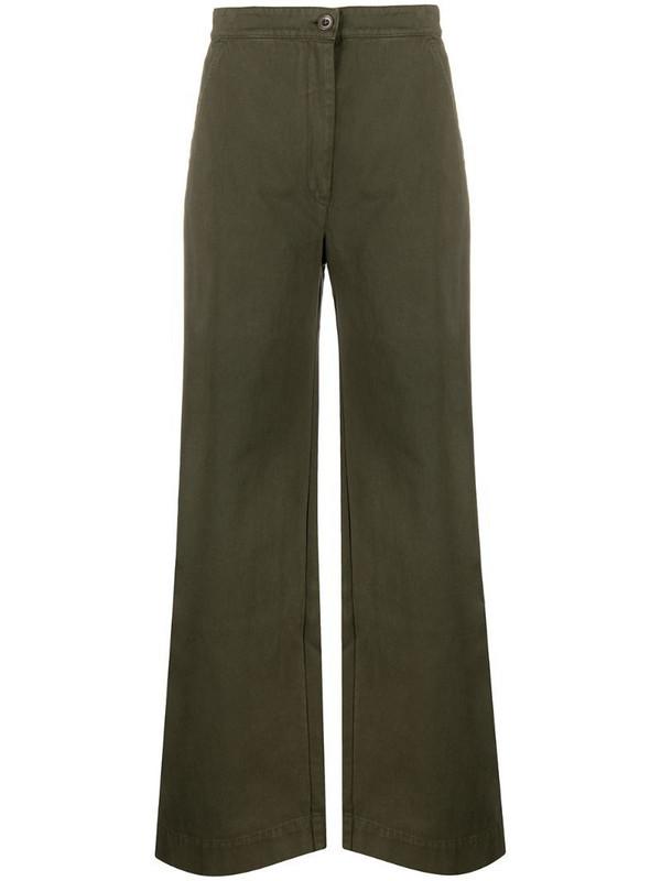 Katharine Hamnett London Anna organic cotton palazzo trousers in green