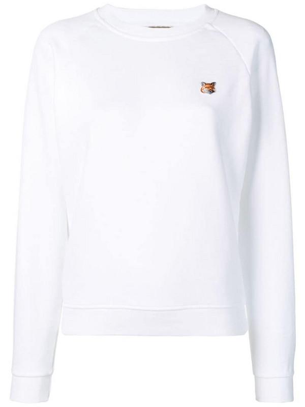 Maison Kitsuné fox head patch sweatshirt in white