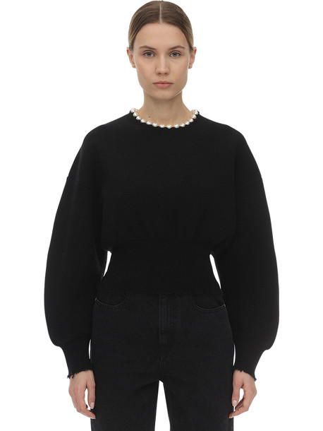 ALEXANDER WANG Wool Blend Knit Sweater in black