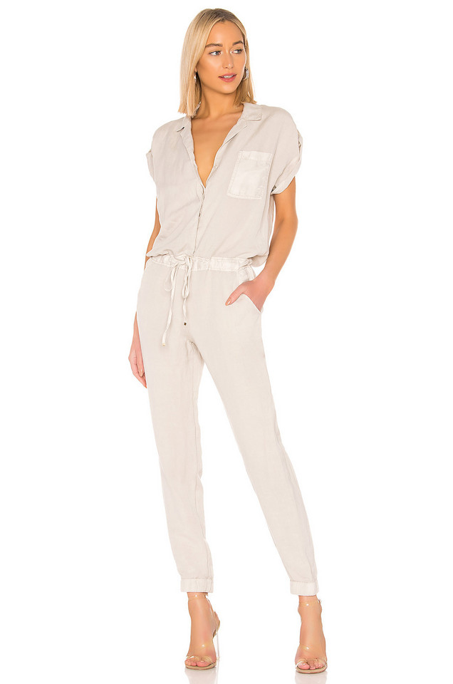 YFB CLOTHING Adrienne Jumpsuit in gray
