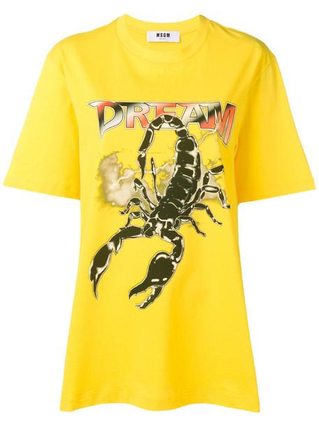 MSGM scorpion dream T-shirt in yellow