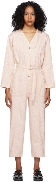 A.P.C. A.P.C. Pink Denim Gaelle Jumpsuit in peach