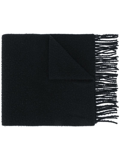 Acne Studios pilled wool fringed scarf in black