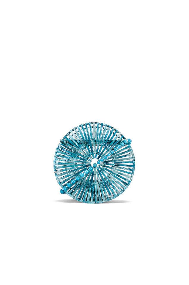 Cult Gaia Acrylic Luna Crossbody in blue