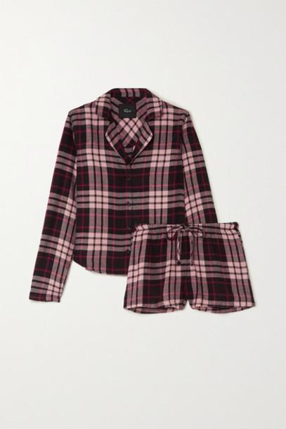 Rails - Kellen Checked Flannel Pajama Set - Pink