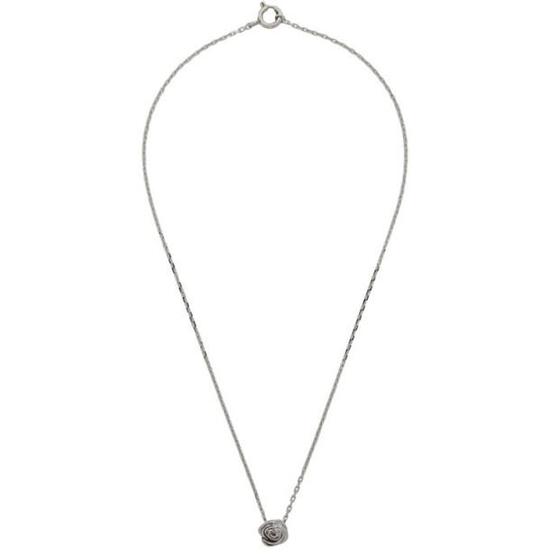 Alan Crocetti Silver Rose Necklace