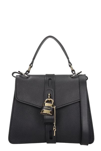 Chloé Chloé Aby Shoulder Bag In Black Leather